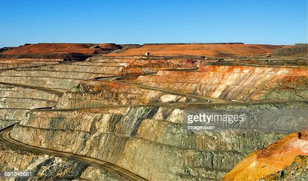 super pit, kalgoorlie, western australia, australia - iron ore stock photos and pictures