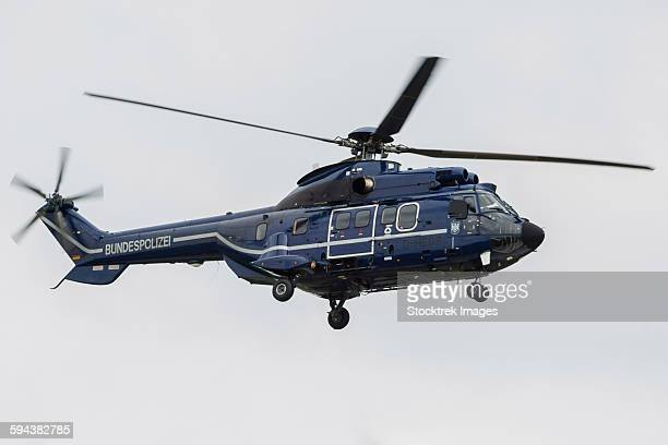 as332 super puma helicopter of the german federal police. - 連邦警察 ストックフォトと画像