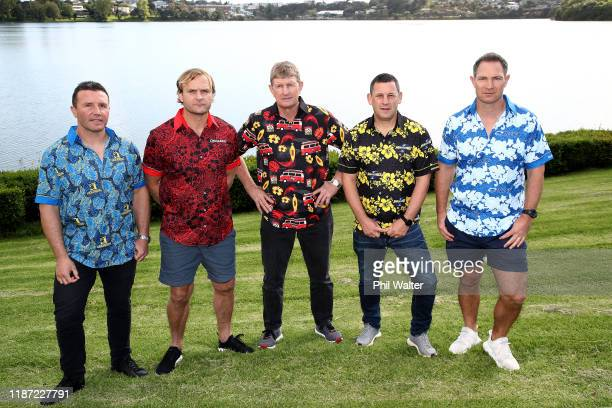 Super Rugby coaching staff Aaron Mauger of the Highlanders Scott Robertson of the Crusaders Neil Barnes of the Chiefs Jason Holland of the Hurricanes...