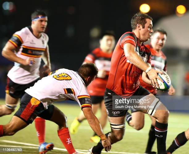 Super Saturday launches Hong Kong rugby season Leighton Asia HKCC VS Societe Generale Valley RFC at King's Park Ho Man Tin Liam Slatem from Leighton...