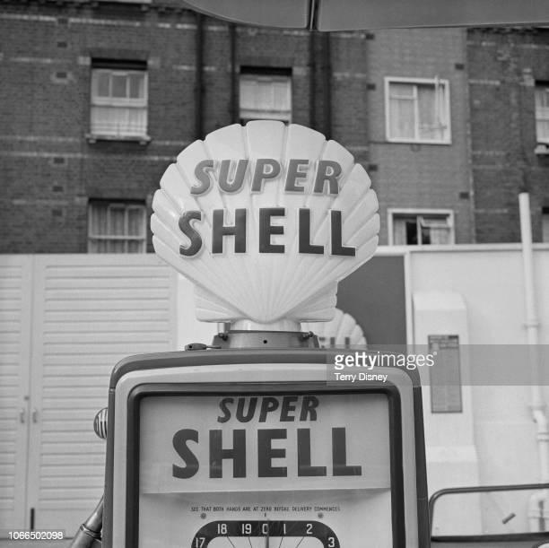 Super Shell petrol pump, UK, 27th June 1963.