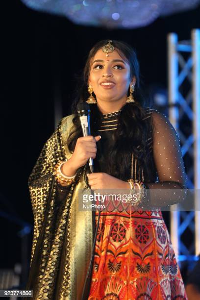 Super Singer Jessica Judes performs in Toronto Ontario Canada on February 19 2018 Canadian Tamil girl Jessica Judes was the second place winner of...