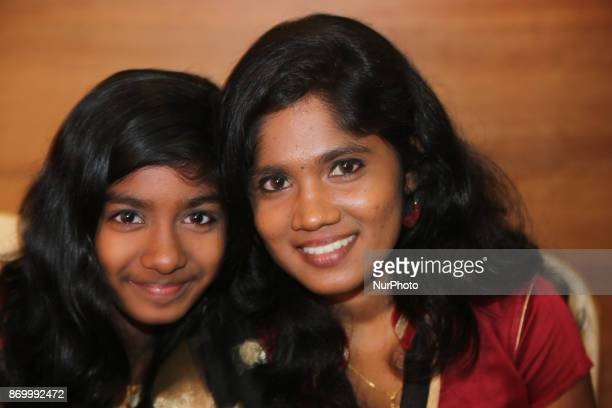 Super Singer S Mary Madonna and Little Championship singer Dishathana perform in Chennai Tamil Nadu India on 25 August 2017