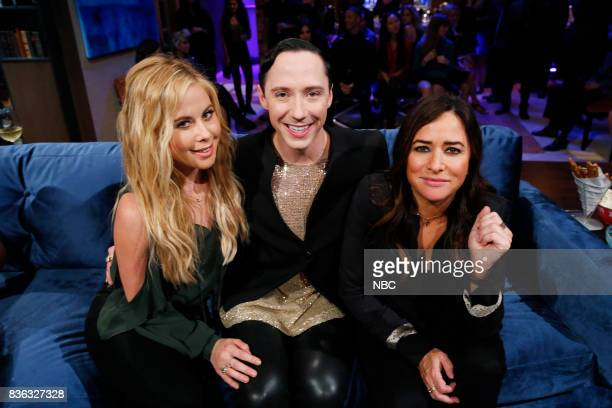 NIGHT Super Smashed Game Night Episode 506 Pictured Tara Lipinski Johnny Weir Pamela Adlon