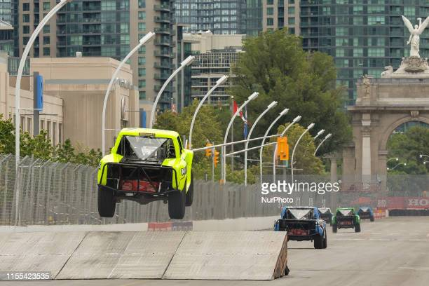 Super Stadium Trucks on the race during the SPEED Energy Stadium SUPER Trucks race on July 12 the first day of the Honda Indy in Toronto's Exhibition...