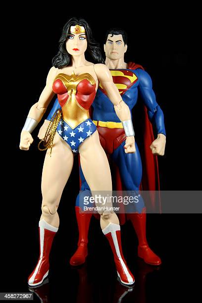 super team - wonder woman comic stock photos and pictures