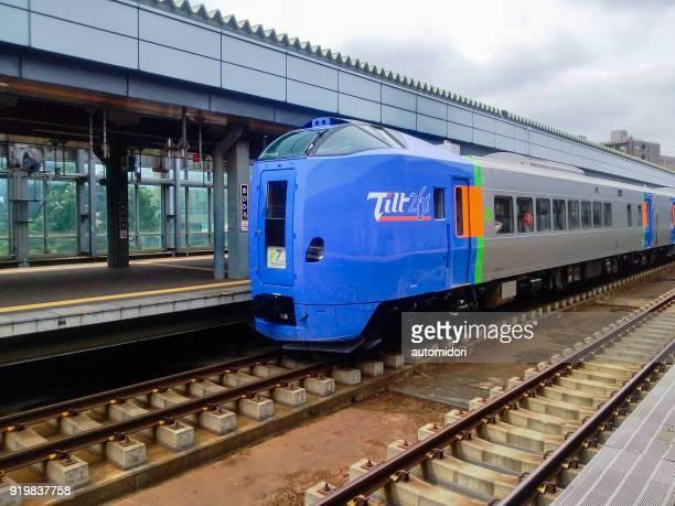 Super Tokachi Limited Express at Obihiro Railway Station during Summer 2013