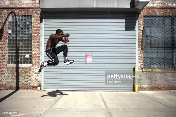ニューヨーク - アメリカでスーパーに訓練を受けた人間 - ニューヨーク市クイーンズ区 ストックフォトと画像