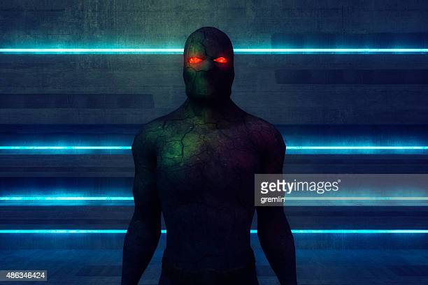 Super villain cyborg