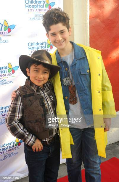 'Super' Vincent Dominguez and actor Jax Malcolm attend the 2nd Annual #Action Jax Movie Morning Fundraiser screening of 'The Goonies' presented by...