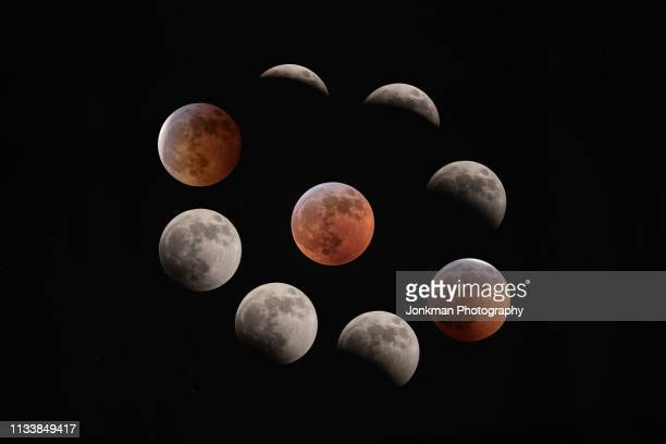 2019 super wolf blood moon total eclipse composite