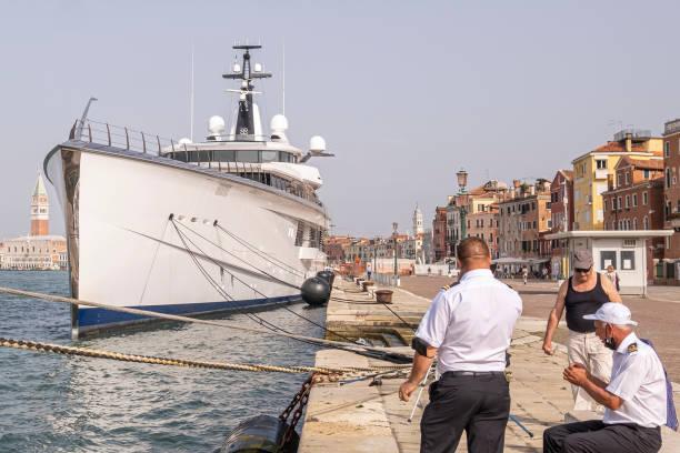 ITA: Jerry Jones Yacht Moored In Venice