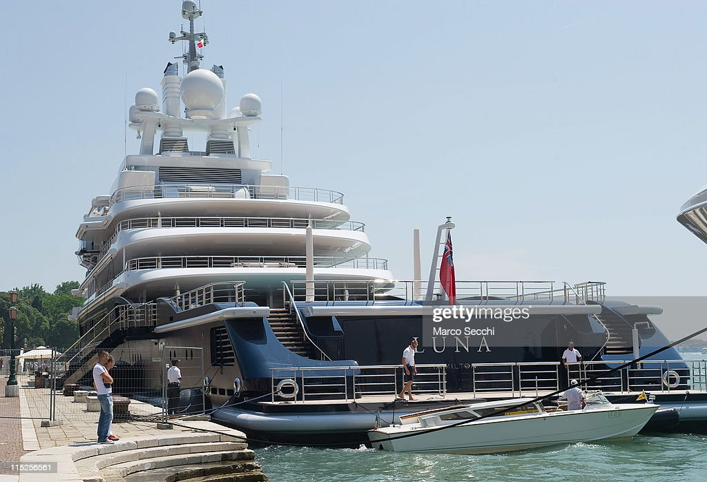 Super Yacht Luna Owned By Russian Billionaire Roman Abramovich Is