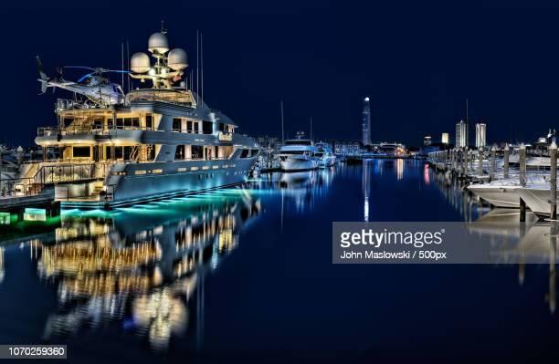 super yacht - maslowski stock-fotos und bilder