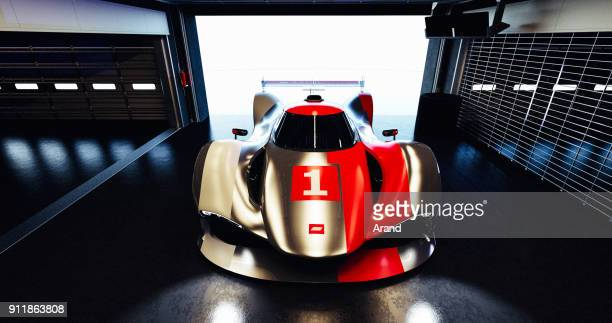 Supersportwagen, Lemans Prototyp, fotorealistische Rendering