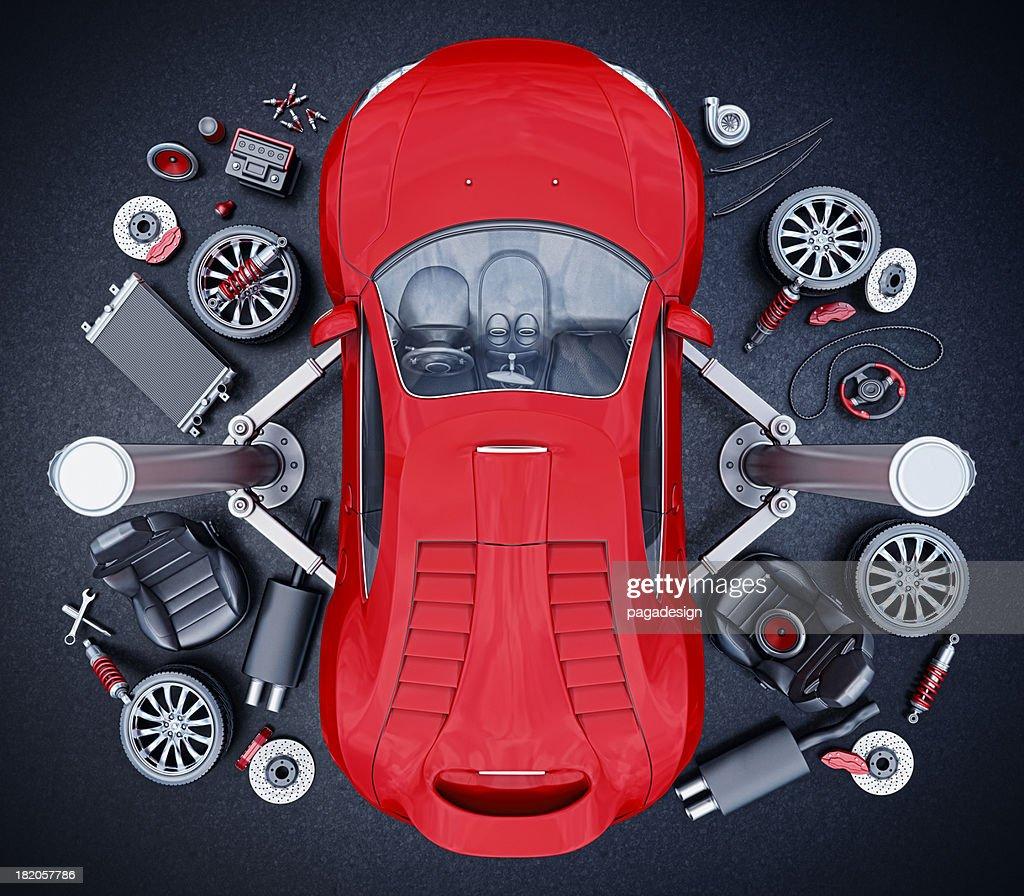 supercar parts : Stock Photo