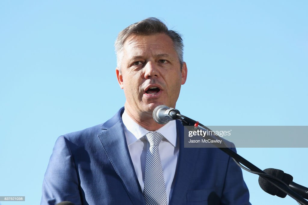 Supercars CEO James Warburton speaks during the Bathurst 1000 Legends and Heroes Media Call in The Rocks on August 23, 2017 in Sydney, Australia.
