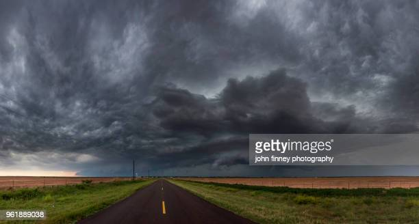 super-cell structure over the texas panhandle. usa - country texas lightning stock pictures, royalty-free photos & images