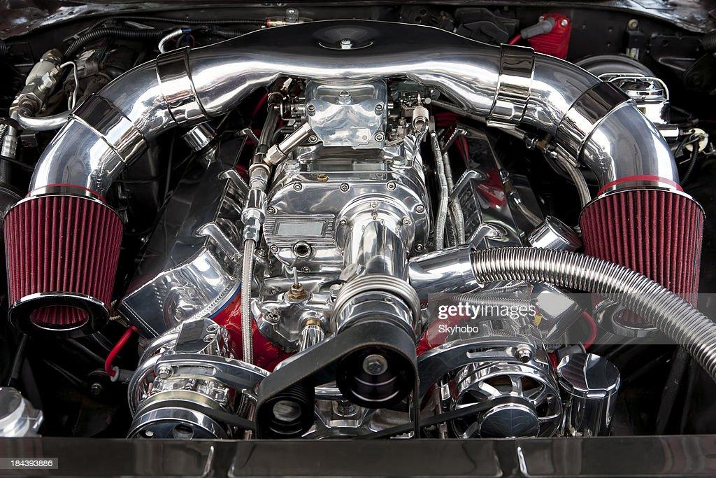 Supercharged Hotrod Engine : Stock Photo