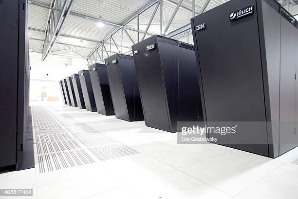Supercomputer Jugene owned by the Juelich Supercomputing Centre JSC and the Gauss Centre for Supercomputing on July 13 2009 in Juelich Germany...