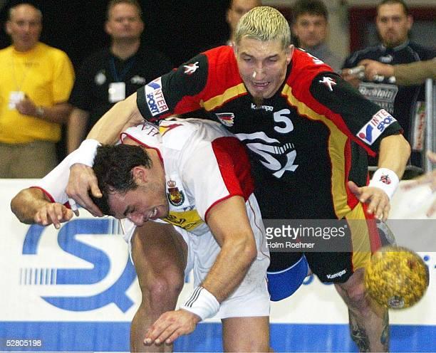 Supercup 2003, Riesa; Finale Deutschland - Spanien ; Ion Ruano/ESP gegen Stefan Kretzschmar/GER