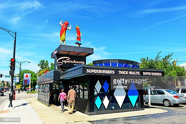Superdawg drive-in hot dog stand, Chicago