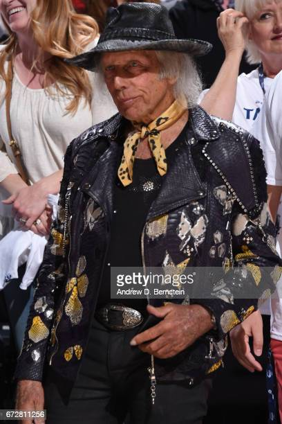 NBA superfan James Goldstein attends Game Three of the Western Conference Quarterfinals between the LA Clippers and the Utah Jazz of the 2017 NBA...