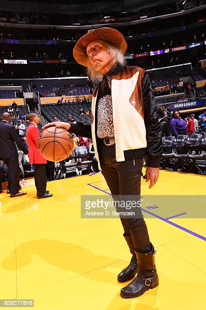Superfan James Goldstein attends the Golden State Warriors game against the Los Angeles Lakers on November 25 2016 at STAPLES Center in Los Angeles...