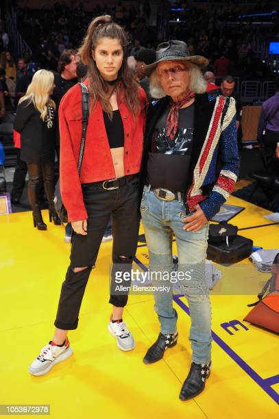 NBA superfan Jimmy Goldstein attends a basketball game between the Los Angeles Lakers and the Denver Nuggets at Staples Center on October 25 2018 in...