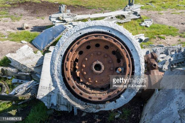 b-29 superfortress 'overexposed' wreckage on bleaklow, derbyshire, england - airplane crash stock pictures, royalty-free photos & images