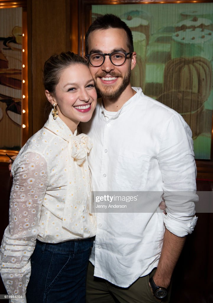 'Supergirl' stars Melissa Benoist and boyfriend Chris Wood attend Melissa Benoist's opening night on Broadway in 'Beautiful - The Carole King Musical' June 12, 2018 in New York City.