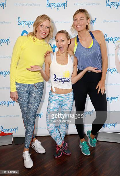 Supergoop founder Holly Thaggard Simone De La Rue and Supergoop coowner Maria Sharapova attend the Supergoop #ProtectYourPosse event with Maria...