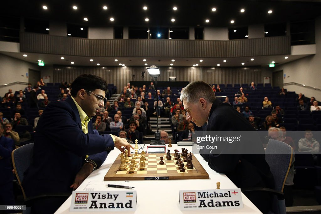World Champion Plays At The London Chess Classic Competition : News Photo