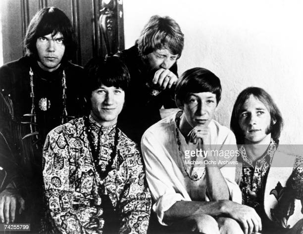Supergroup 'Buffalo Springfield' pose for a portrait in 1967 Neil Young Richie Furay Dewey Martin Bruce Palmer Stephen Stills