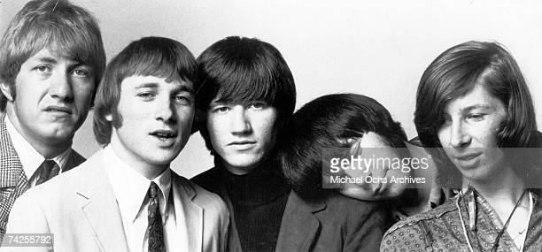 Supergroup 'Buffalo Springfield' pose for their first PR photo in September 1966 Dewey Martin Stephen Stills Richie Furay Neil Young and Bruce Palmer