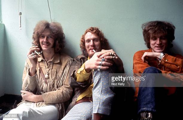 Supergroup Cream poses for a portrait in circa 1968 in New York New York LR Eric Clapton Ginger Baker Jack Bruce