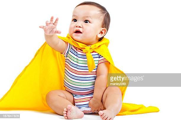 superhero baby in yellow cape