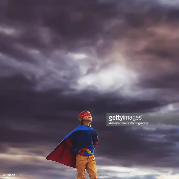 Superhero in the storm