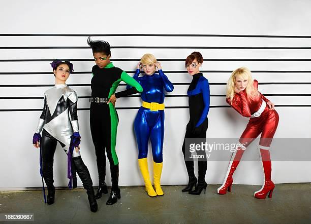 Superhero Police Lineup