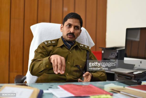 Superintendent of Police Abhishek Garg speaks with Hindustan Times via Getty Images at his office on January 17 2018 in Jind India A Class 12 student...