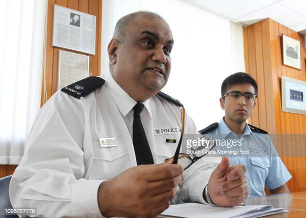 Superintendent of Police Mohammad Khan and policeman Adnan Khan talk about 'Program Gemstone' TST Police station TST 15JUN15