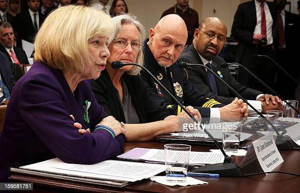 Superintendent of schools of Newtown Connecticut Janet Robinson Emily Nottingham mother of Gabe Zimmerman a staff member to former Rep Gabrielle...