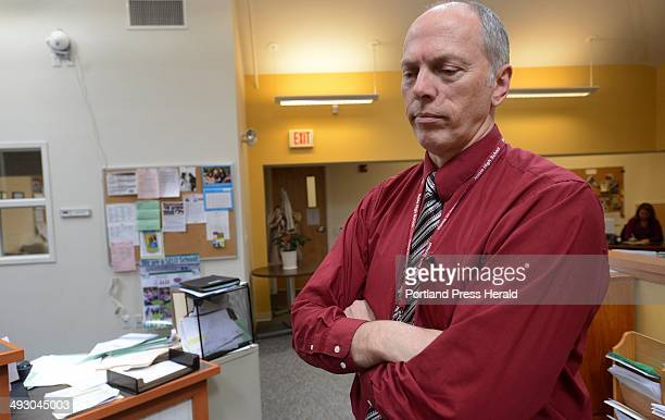 Superintendent Steven Connolly speaks about Amy Harris at the MSAD offices in North Berwick Wednesday April 10 2013 Harris was a teacher at Vivian E...