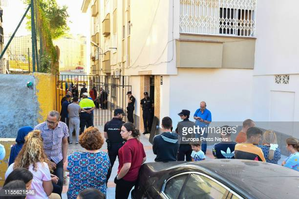 Superior Authority Officers of National Police are seen at the door of a residence where a civil guard officer killed himself after shooting his wife...