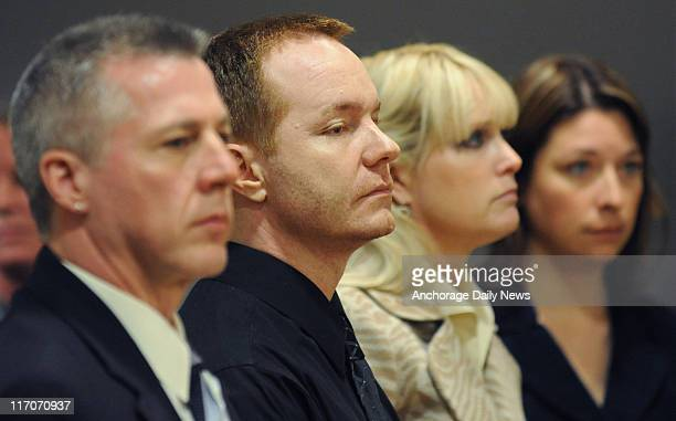 Superior Courtroom, after an Anchorage jury found Kenneth Dion second from left, stands with his defense team on June 15 after an Anchorage jury...