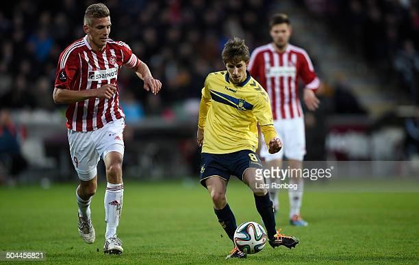 Superliga AaB vs Brøndby Alexander Szymanowski Brøndby IF Thomas Augustinussen AaB © Lars Rønbøg Frontzonesport