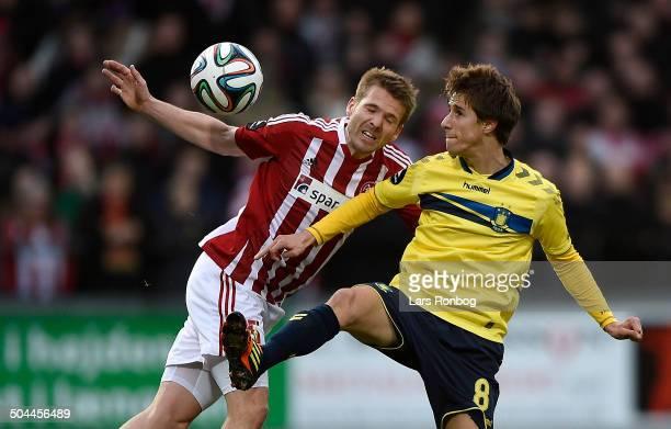 Superliga AaB vs Brøndby Kenneth Emil Petersen AaB Alexander Szymanowski Brøndby IF © Lars Rønbøg Frontzonesport