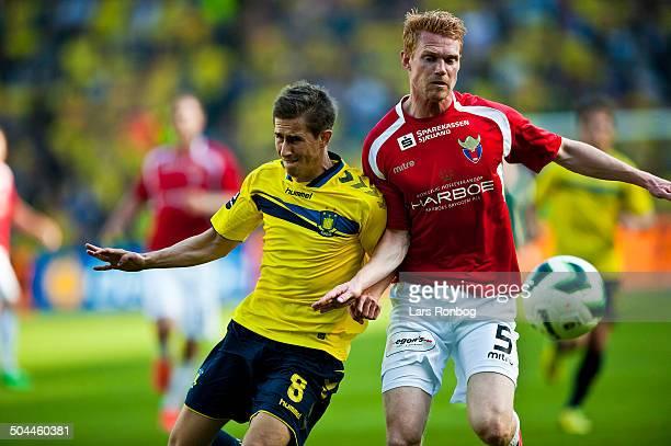 Superliga Brøndby vs FC Vestsjælland Alexander Szymanowski Brøndby IF Lasse Nielsen FC Vestsjælland © Lars Rønbøg Frontzonesport