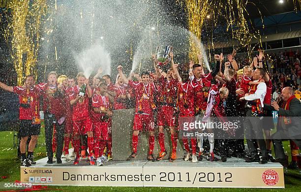 Superliga FC Nordsjælland vs. AC Horsens - Danish Champions 2011/2012 FC Nordsjælland . ©Lars Ronbog / Frontzonesport