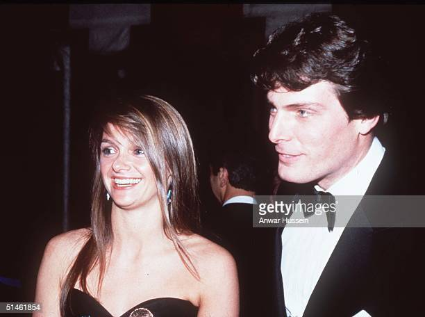Superman actor Christopher Reeve and girlfriend Gae Exton are seen at a film premiere in this image taken on November 1982 in London England...